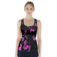Painter was here - magenta Racer Back Sports Top