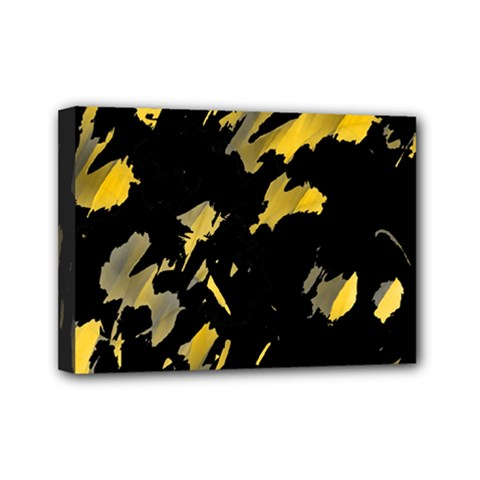 Painter was here - yellow Mini Canvas 7  x 5