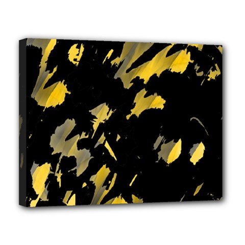 Painter was here - yellow Canvas 14  x 11