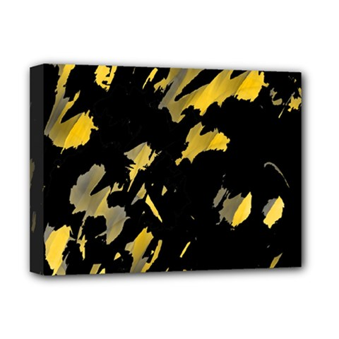 Painter was here - yellow Deluxe Canvas 16  x 12