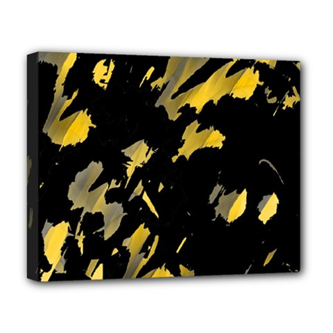 Painter was here - yellow Deluxe Canvas 20  x 16