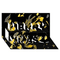 Painter was here - yellow Merry Xmas 3D Greeting Card (8x4)