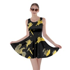 Painter was here - yellow Skater Dress