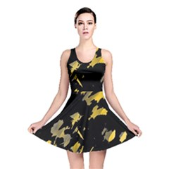 Painter was here - yellow Reversible Skater Dress
