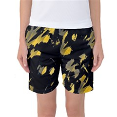 Painter was here - yellow Women s Basketball Shorts