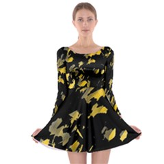 Painter was here - yellow Long Sleeve Skater Dress