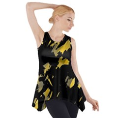 Painter was here - yellow Side Drop Tank Tunic