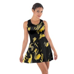 Painter was here - yellow Cotton Racerback Dress