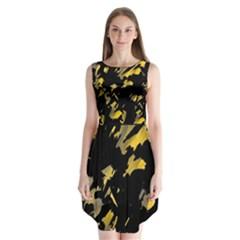 Painter was here - yellow Sleeveless Chiffon Dress