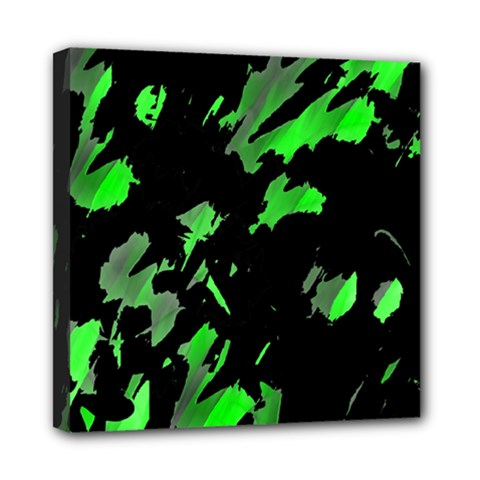 Painter was here - green Mini Canvas 8  x 8