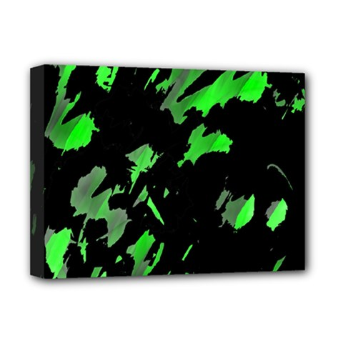 Painter was here - green Deluxe Canvas 16  x 12