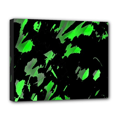 Painter was here - green Deluxe Canvas 20  x 16