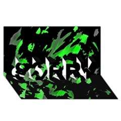 Painter was here - green SORRY 3D Greeting Card (8x4)