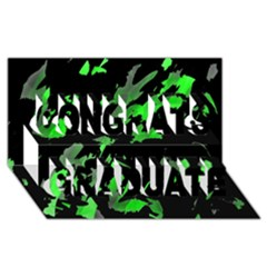 Painter was here - green Congrats Graduate 3D Greeting Card (8x4)