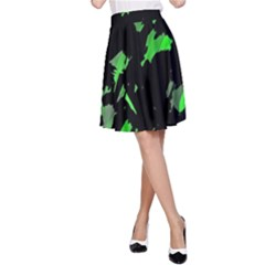 Painter was here - green A-Line Skirt