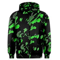 Painter was here - green Men s Zipper Hoodie