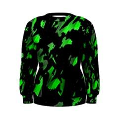 Painter was here - green Women s Sweatshirt
