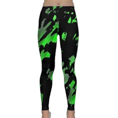 Painter was here - green Yoga Leggings
