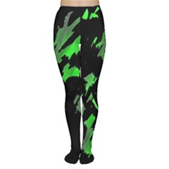 Painter was here - green Women s Tights