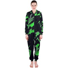 Painter was here - green Hooded Jumpsuit (Ladies)