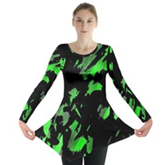 Painter was here - green Long Sleeve Tunic