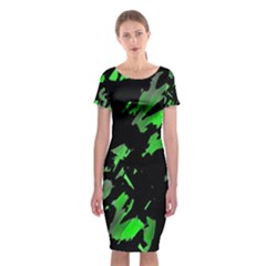 Painter was here - green Classic Short Sleeve Midi Dress