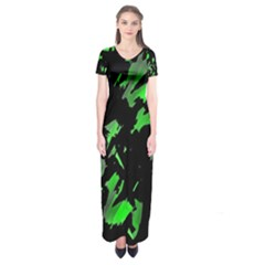 Painter was here - green Short Sleeve Maxi Dress