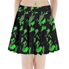 Painter Was Here   Green Pleated Mini Skirt