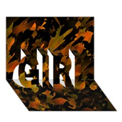Abstract Autumn  Girl 3d Greeting Card (7x5)