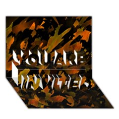 Abstract Autumn  YOU ARE INVITED 3D Greeting Card (7x5)