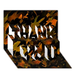 Abstract Autumn  THANK YOU 3D Greeting Card (7x5)