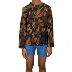 Abstract Autumn  Kids  Long Sleeve Swimwear