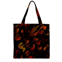 Abstract Autumn  Zipper Grocery Tote Bag