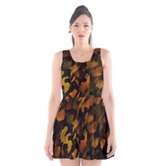 Abstract Autumn  Scoop Neck Skater Dress