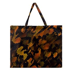 Abstract Autumn  Zipper Large Tote Bag