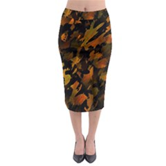 Abstract Autumn  Midi Pencil Skirt