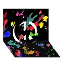 Painter was here Peace Sign 3D Greeting Card (7x5)