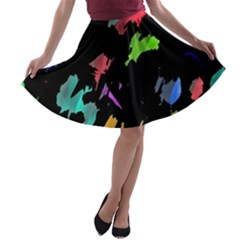 Painter was here A-line Skater Skirt