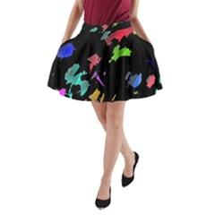 Painter was here A-Line Pocket Skirt