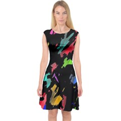 Painter was here Capsleeve Midi Dress