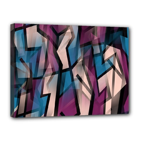 Purple high art Canvas 16  x 12