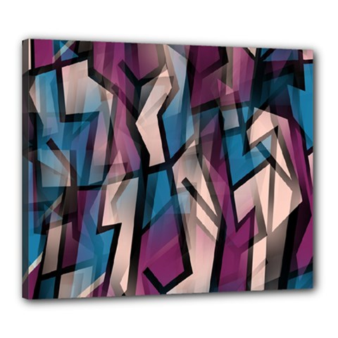 Purple high art Canvas 24  x 20