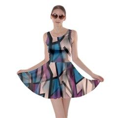 Purple high art Skater Dress