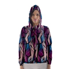 Purple high art Hooded Wind Breaker (Women)