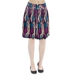 Purple high art Pleated Skirt