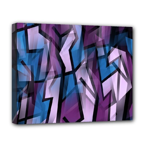Purple decorative abstract art Deluxe Canvas 20  x 16