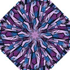 Purple decorative abstract art Hook Handle Umbrellas (Large)