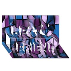 Purple decorative abstract art Best Friends 3D Greeting Card (8x4)
