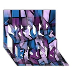 Purple decorative abstract art You Rock 3D Greeting Card (7x5)