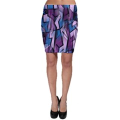 Purple decorative abstract art Bodycon Skirt